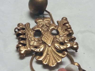 antique balkan greek ottoman silver gold gilt head or cloth pin