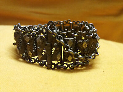 antique greek ottoman era turkish silver filigree bracelet