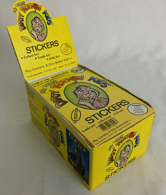Rare Vintage Dirty Rotten Kids 1st Edition Sticker Card Box 1980's Full Box Mint