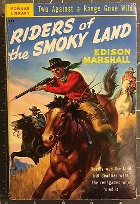 RIDERS OF THE SMOKEY LANDS  Vintage Western Edison Marshall PB Book 1950 FN.