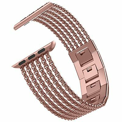 Milanese Loop Stainless Steel Band 42mm Strap for Apple Watch Series 3 Rose Gold