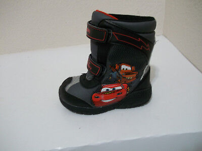 Boys Kids Disney Pixar Cars Mater Mcqueen Winter Snow Boots Sz 8 Toddler