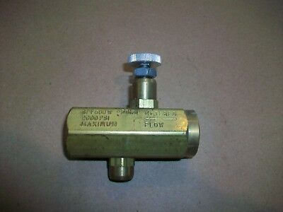 "Schrader Bellows Flow Control Valve SPF600B  30lb   2000PSI    3/8"" NPT"