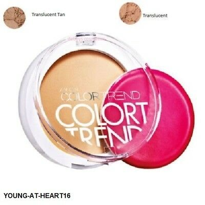 Avon Color Trend Final Touch Pressed Powder Colour Trend TRANSLUCENT OR TAN