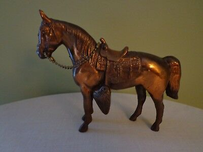 Vintage Copper Metal Horse Figurine