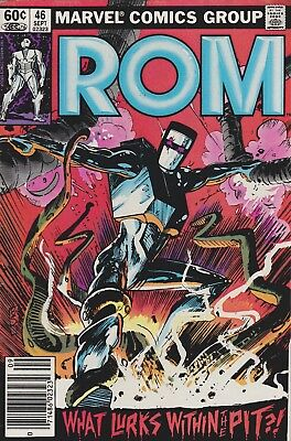 Rom  #46, 47, 48, & 51 Marvel Comics 1983-84 (4) Comic Lot Z-3