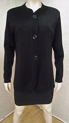 Exclusively Misook new nwot knit black jacket coat blazer cardigan sz XL L 1X