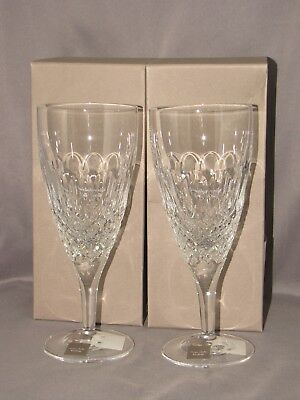 PAIR of ELLYPSE ICED BEVERAGE GLASSES by MONIQUE LHUILLIER for WATERFORD NEW