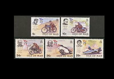 ISLE OF MAN SG218-222 1982 TT motorcycle races 75th Anniversary Unmounted Mint