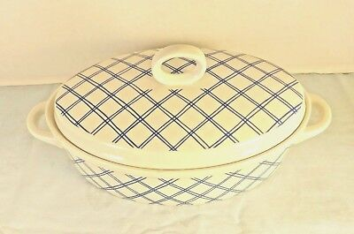 Linen Blue Rubel & Co Casserole Dish with Lid   9 1/2""