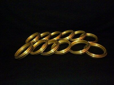 Very Nice Set of French Antique Ormolu Curtain Rings 19 Th. C.