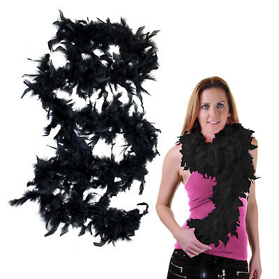 Fancy Dress Feather Boa 150cm Black Burlesque Showgirl Hen Night