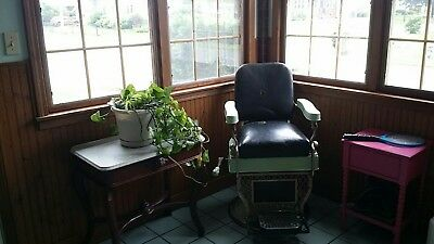Antique Koken vintage Barber Chair Working Hydraulics Unrestored  PICKUP ONLY