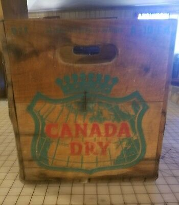 Canada Dry Vintage Wooden Soda Crate 16 x 12 Preserved Priced KMJZ