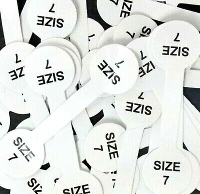 Lot 50 pc size 7 Barbell Stick Tags Gummed. Ring Jewelry Display USA Fast SHIP