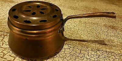 Copper Food Warmer Burner with Copper handle