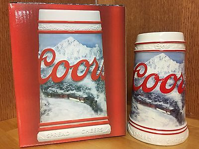 *New in Box* Coors Holiday Limited Edition Ceramic Beer Stein
