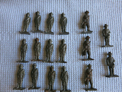 Lot (17) Vtg Antique Toy Soldiers ARMY Military Lead Cast Iron Metal~FANTASTIC!