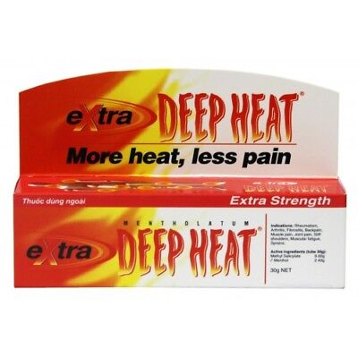 4 x 30g Tube Deep Heat Extra Strength Gel Strong Muscle,Sprains, Pain Relief
