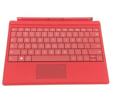 "Genuine Microsoft Surface 3 10.8"" Type Cover Keyboard with Backlight Black / Red"