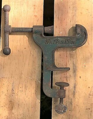 Vintage Cast Iron Table Clamp T Handle Screw Type Nut Cracker By Hamilton