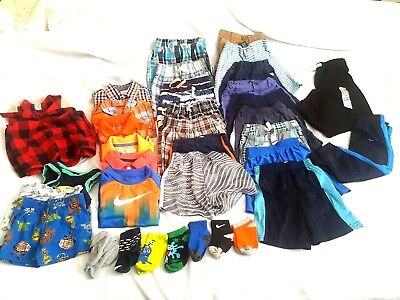 35 pc Lot of pre owned gently used boys clothes mixed brands size 9M-2T-3T-4T