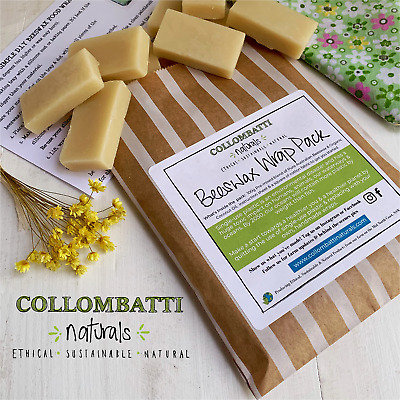 Beeswax Food Wrap Kit - DIY - With Organic Coconut Oil - Eco Friendly Packaging