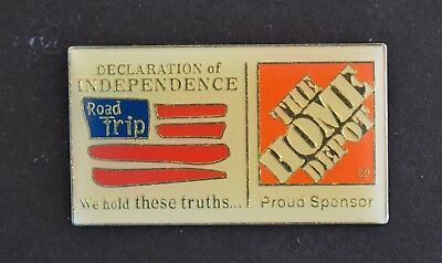 Home Depot Declaration of Independence Sponsorship Apron Pin