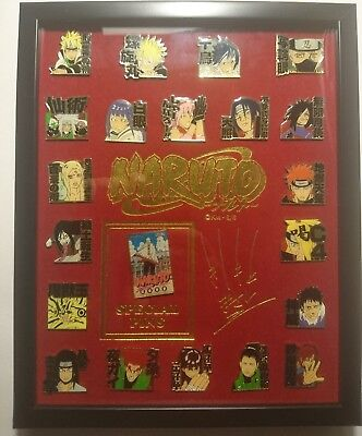 NARUTO Exhibition Framed Price Pins Set Ninjya Anime Manga New Rare