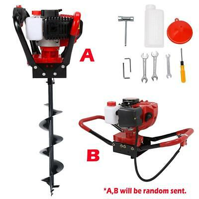 """52cc Gas Powered Post Hole Digger w/ 6"""" Earth Auger Drill Bit 2.3HP Power Engine"""