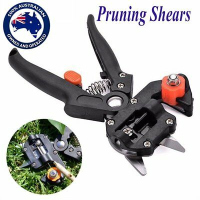 Garden Fruit Tree Pro Pruning Shears Scissor Grafting Cutting Tools KIT+ 2 Blade