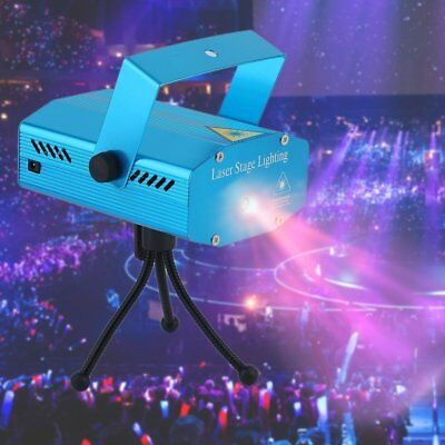 Laser Projector Stage Lights Mini LED R&G Lighting Xmas Party DJ Disco KTV