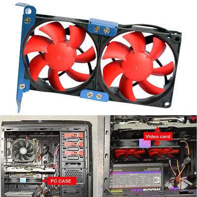 Overclock Double 9cm PC Computer Video Card GPU PCI Cooling Cooler Heatsink Fan