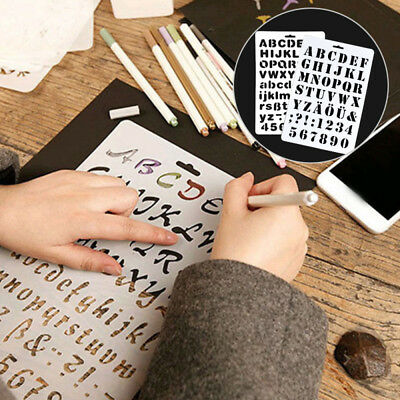 Hot Lettering Stencil Letter Alphabet Stencils Painting Paper Craft Number Cheap