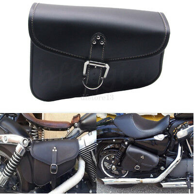 noir sacoche sac cuir moto custom caisse outils bag pour harley divadson choper eur 19 98. Black Bedroom Furniture Sets. Home Design Ideas