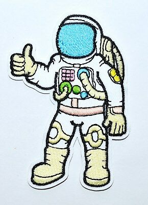 100x Astronaut cosmonaut spaceman retro embroidered applique iron on patch new