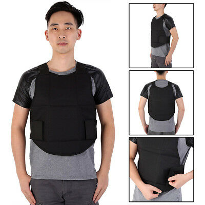 1Pc Adjustable Double Protection Stabproof Military Tactical Security Vest Black