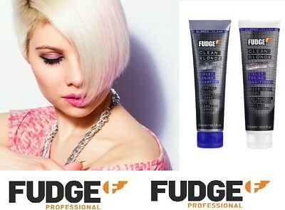 Fudge Clean Blonde Violet Toning Purple Shampoo/conditioner 300Ml - Uk Seller