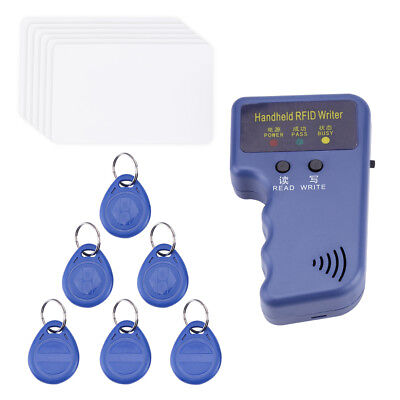Handheld 125KHz RFID Copier/Writer/Readers/Duplicator With 6/10pcs ID Tags MP