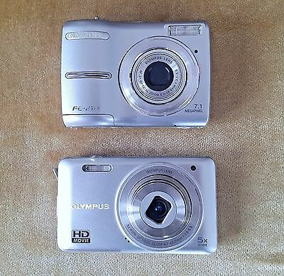 LOT OF 2 OLYMPUS FAULTY CAMERA FOR PARTS OR REPAIR, AS IS (massive offer)