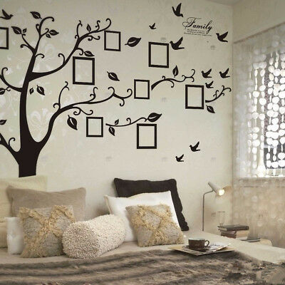 Family Tree Wall Decal Sticker Large Vinyl Picture Frame Removable