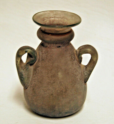 Ancient Roman Glass Handled Vessel, 1st - 3rd Century