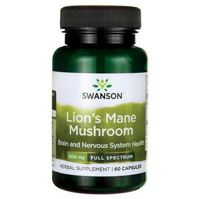 LIONS MANE MUSHROOM for Cognitive Function, Memory & Brain 500 mg - 60 Capsules