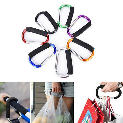 EG_ Buggy Clip Baby Pram Pushchair Stroller Shopping Mummy Hook Carabiner Eyeful