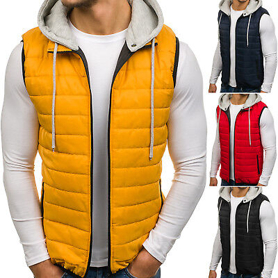 Vests Gilet Waistcoat Bodywarmer Jacket Lined Hooded Mens Mix BOLF 4D4 Classic