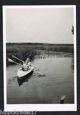 STEEVER, Foto vintage Photo, Frauen, Paddelboot, canoe women femmes (34)