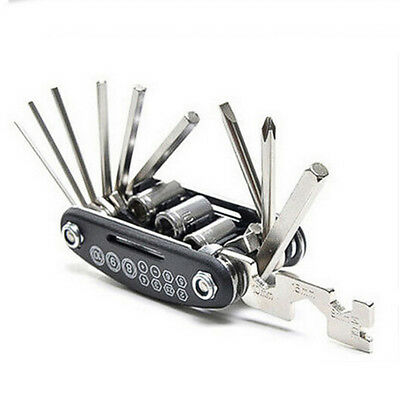 EG_ 16 in 1 Bicycle Repair Tool Bike Pocket Multi Function Folding Tool Set Heal