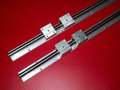 20MM SBR20-1400mm LINEAR SLIDE GUIDE SHAFT 2 RAIL+4SBR20UU BEARING BLOCK CNC set