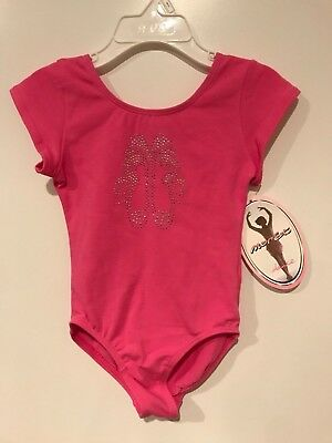 Jacques Moret Dance Leotard Pink Ballet Slipper Rhinestones Toddler Girl