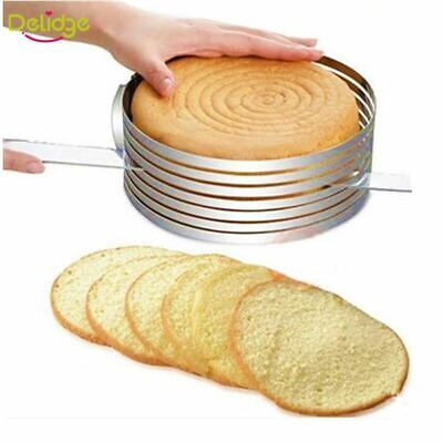 1 Pcs Adjustable Cake Cutter Round Shape Bread Slicer Adjustable Layered Ring To